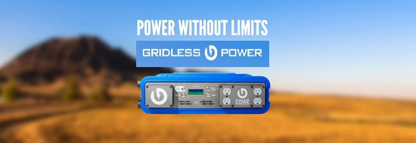 Gridless portable Li-Ion power system.  Power and recharge anywhere!